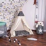 Детская палатка вигвам Springos Tipi Xxl White/Black SKL41-277677, фото 4