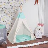 Детская палатка вигвам Springos Tipi Xxl White/Mint SKL41-277680, фото 3