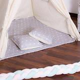 Детская палатка вигвам Springos Tipi Xxl White/Grey SKL41-277683, фото 4