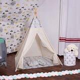 Детская палатка вигвам Springos Tipi Xxl White/Mix SKL41-277688, фото 6
