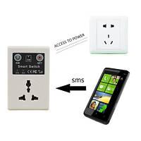 Умная розетка GSM - дистанционно управляемая розетка с мобильного телефона с помощью СМС (мод. PA02202)