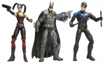 Набор фигурок DC Comics, Аркхэм Сити, 17 см Arkham City, Batman, Nightwing, Harley Quinn SKL14-279074