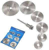 Набір з 6 відрізних кругів, дискових пил HSS 22-50мм для дремеля гравера