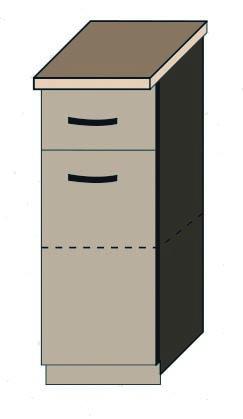 """Кухня """"Аліна"""" нижній модуль 30Н колір - дуб Сонома / латте"""