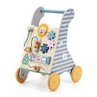 Дитячі ходунки-каталка Viga Toys PolarB з бізібордом (44028)