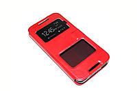 Кожаный чехол книжка для HTC Desire 626G Dual Sim красный