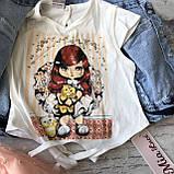 Летний джинсовый костюм на девочку 580. Размер 86 см, 104 см, фото 3