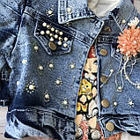 Летний джинсовый костюм на девочку 580. Размер 86 см, 104 см, фото 5