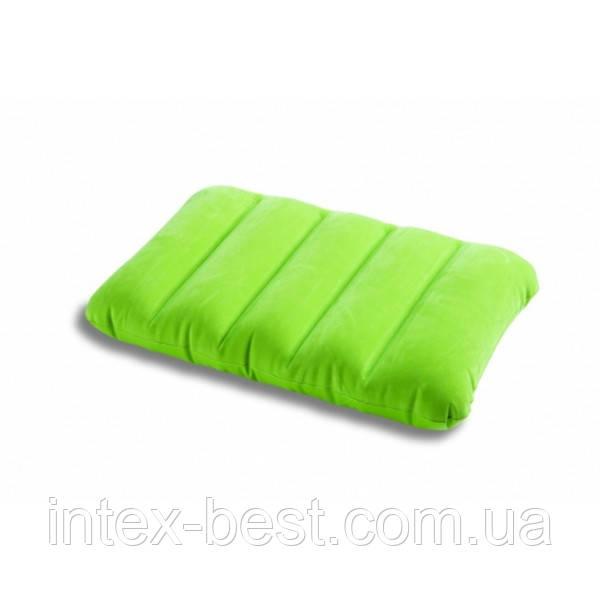 Intex 68676G (Зелёная) Надувная подушка 3 вида