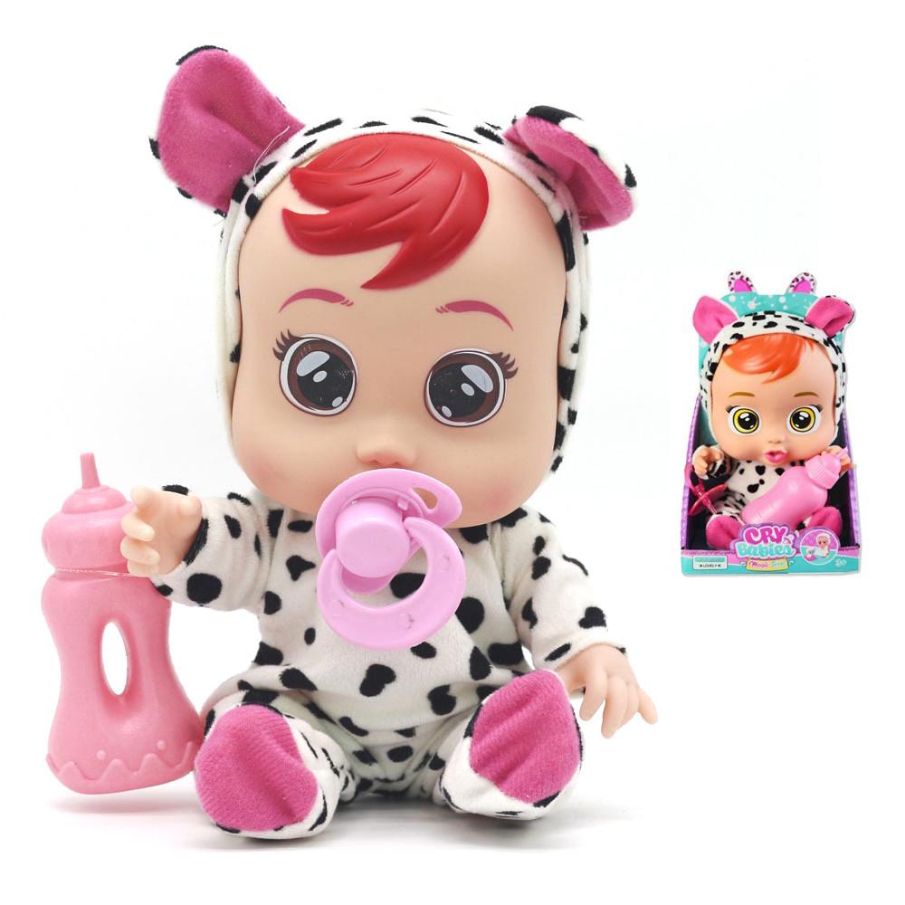Интерактивная игрушка плачущий пупс Cute Babies №1 кукла с настоящими слезами издающая звуки плача ребёнка