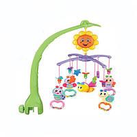 Карусель мобіль на дитячу ліжечко NATURE MUSICL MOBILE Музична каруселька на пульті для немовляти, фото 1