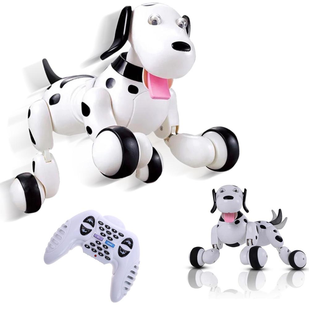 Игрушка интерактивная собака робот на пульте управления Smart Dog Умный питомец говорящий пес Happy Cow Белый