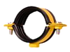"""Хомут 3/4"""" (25-30мм) с гайкой М8 стальной ЦБ, окрашенный"""