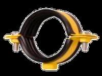 """Хомут 2"""" (59-65мм) с гайкой М8 стальной ЦБ, окрашенный"""