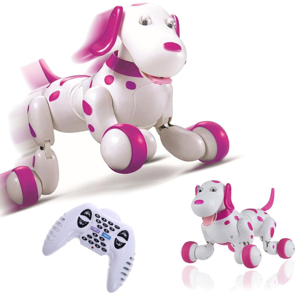 Интерактивная собака-робот на радиоуправлении  Smart Dog Умный питомец говорящий щенок собачка Розовая