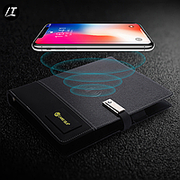 Смарт-Блокнот+Ежедневник, с беспроводной зарядкой и USB,8000 mAh Bissenes Notebook, Ежедневник с power bank.