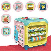 Развивающий Куб музыкальный BabyToys 6 функций-музыкальный центр- телефон-математический центр-руль-часы, фото 1