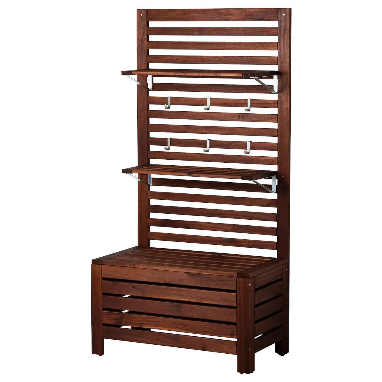 Садовая скамейка + панель/2 полки APPLARO
