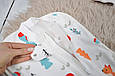 Євро-пелюшка на блискавці Magbaby c шапочкою Part Лісова Бувальщина 0-3 міс, фото 3