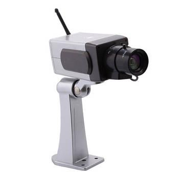 Муляж камеры видеонаблюдения со встроенным датчиком движения Protect Wi-fi-Robot + наклейка предупредительная