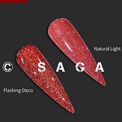 НОВИНКА Гель лак SAGA Fiery 03 8мл красный светоотражающий эффект мега блеск 8 мл Гель-лаки с эффектами