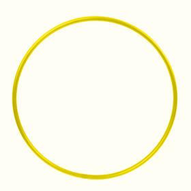 Обруч гимнастический Feel Fit для похудения и коррекции талии металлический 750 мм Желтый