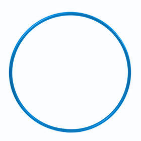 Обруч гимнастический Feel Fit для похудения и коррекции талии металлический 750 мм Синий
