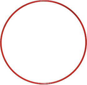 Обруч гимнастический Feel Fit для похудения и коррекции талии металлический 750 мм Красный