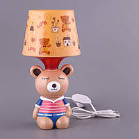 """Светильник детский с пластиковым абажуром 32 см. """"Медвежонок"""""""
