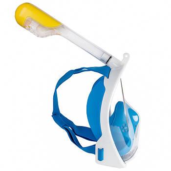 Полнолицевая маска для подводного плавания Freebreath S/M Белый с голубым (frb003)