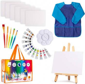 Детский подарочный набор для рисования и творчества Acrylic Paint Set 27 шт (YJ-KP4A320)