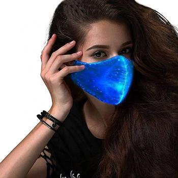 Светодиодная LED маска многоразовая для лица Bwill Разноцветная (CW-P3)