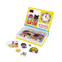 Развивающая игрушка Janod Магнитная книга Учимся называть время (J02724)