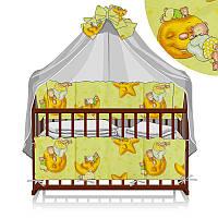 Постельный комплект 7 предметов (1) Мишка на луне 23434 - цвет желтый ТМ Беби-Текс