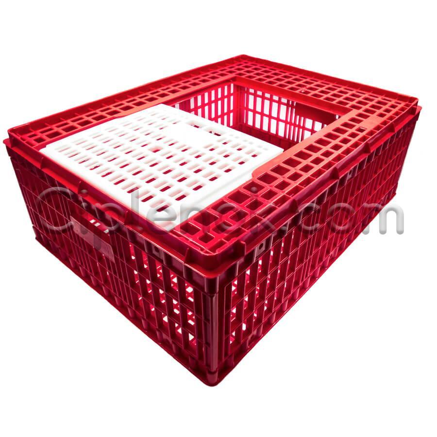 Маленький ящик для перевозки птицы с раздвижной верхней дверкой 77х57х28