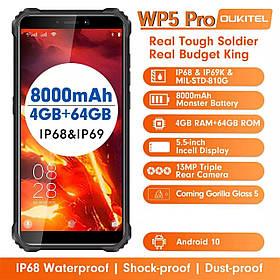 Смартфон OUKITEL WP5 pro Black 4/64gb IP68 8000мАч камера 13\5\2Мп нові в наявності