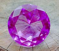 Кристалл Фен-Шуй сиреневый (8 х 8 см.)