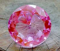 Кристалл Фен-Шуй розовый (8 х 8 см.)