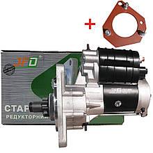 Стартер редукторний МТЗ  JFD 12В 3,5 кВт з плитою
