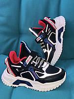 Кроссовки Детские на мальчика Tom.M 9108H +светоотражающие вставки