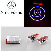 Подсветка в двери автомобиля с логотипом Mercedes (Мерседес)