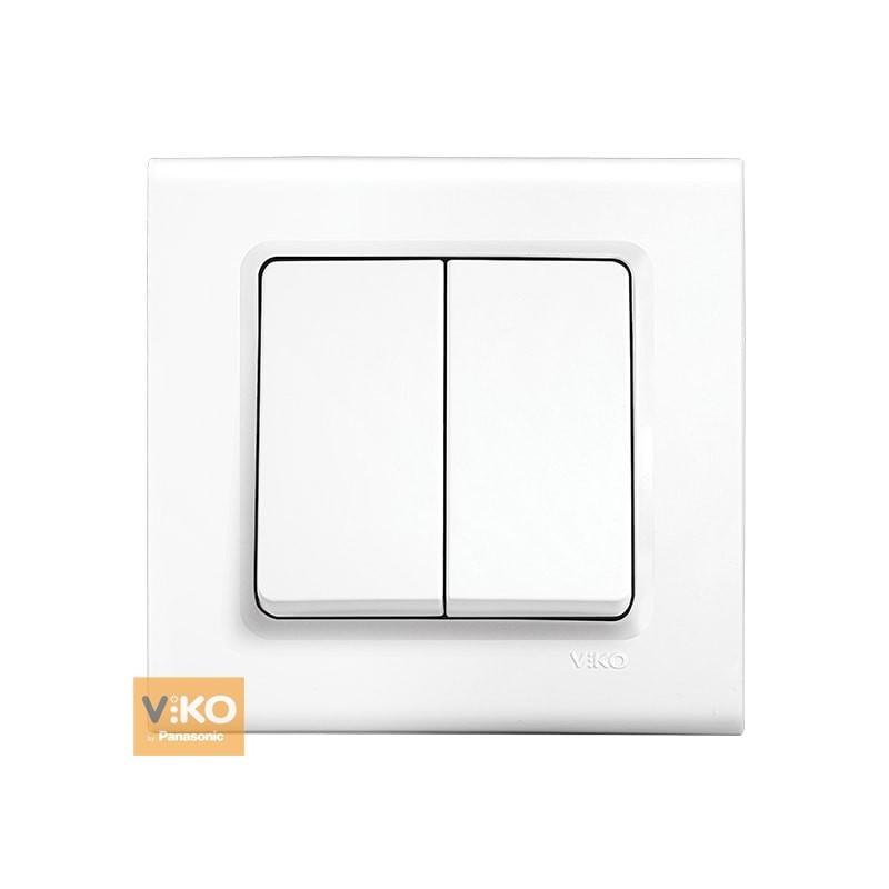 Выключатель двухклавишный VIKO Linnera - Белый