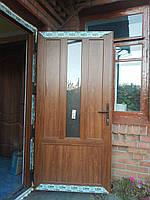 Двери входные коричневые металлопластиковые WDS 900х2000 мм