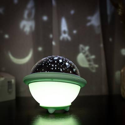 Проектор звездного неба Losso - детский ночник НЛО зеленый