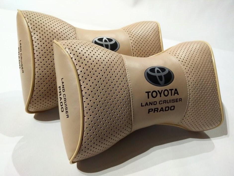 Подушка на подголовник Toyota Подушки с логотипом Тойота Подушки в авто Тойота Подарок в авто Тойота