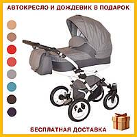 Детская коляска универсальная 2в1 прогулочная Viano серого цвета