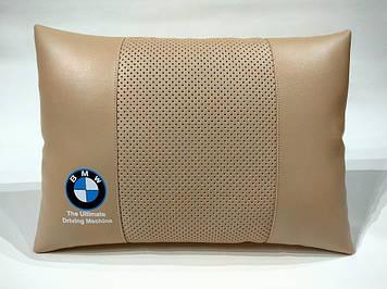 Подушка ортопедическая в автомобиль Подушка для водителя Подушка в авто Подарок в машину БМВ