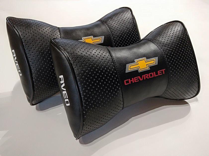 Подушка на подголовник в автомобиль Подушка на подголовник с логотипом CHEVROLET Автомобильная подушка под шею