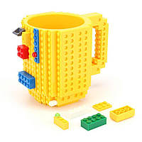 Кружка LEGO + набор кубиков (цвет желтый)