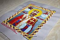 Вышитая бисером икона святого Николая